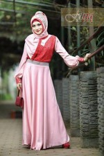 gamis pesta modern terbaru Pusat-Gamis-Terbaru-Hualifah-by-Fitria-Style-Pink