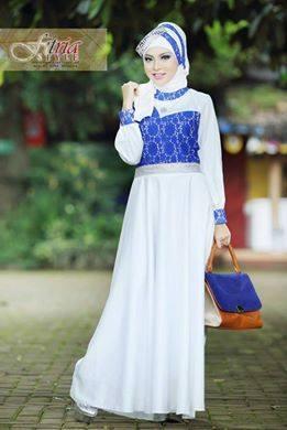 Hualifah By Fitria Style Putih Baju Muslim Gamis Modern