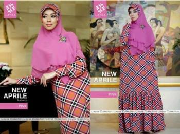 baju gamis Pusat-Gamis-Terbaru-Layra-New-Aprilline-Pink