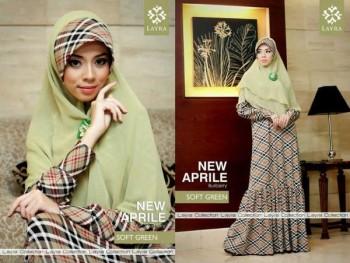 model baju gamis, Pusat-Gamis-Terbaru-Layra-New-Aprilline-Soft-Green