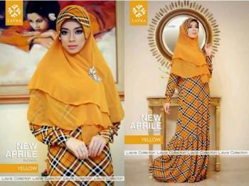 baju gamis terbaru, Pusat-Gamis-Terbaru-Layra-New-Aprilline-Yellow