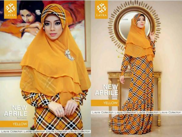 New Aprilline Yellow Baju Muslim Gamis Modern