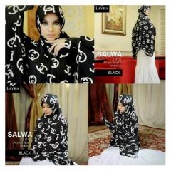 baju muslim dress modern Pusat-Gamis-Terbaru-Layra-Salwa-Black