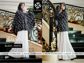 gaun pesta modern, Pusat-Gamis-Terbaru-Layra-Salwa-Vol.II-Black-White