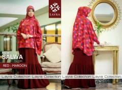 gaun muslim modern, Pusat-Gamis-Terbaru-Layra-Salwa-Vol.II-Maroon