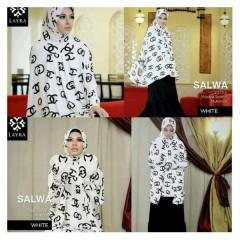 baju muslimah cantik Pusat-Gamis-Terbaru-Layra-Salwa-White