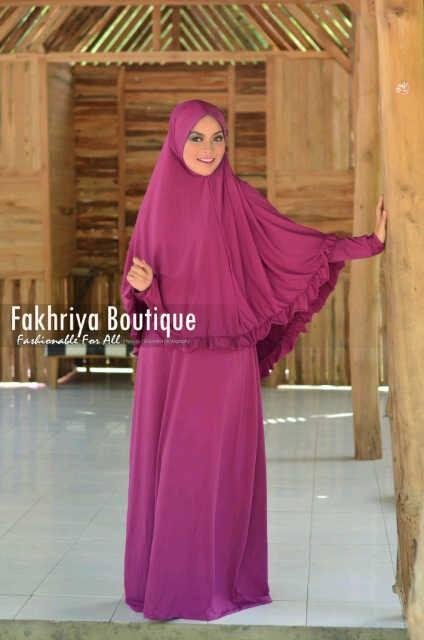 Muzdalifah Violet Baju Muslim Gamis Modern
