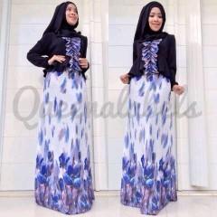 baju muslimah trendy Pusat-Gamis-Terbaru-New-Velash-by-Queena-Hitam