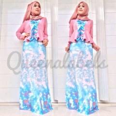 baju muslim pesta  Pusat-Gamis-Terbaru-New-Velash-by-Queena-Pink