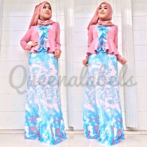 New Velash By Queena Pink Baju Muslim Gamis Modern