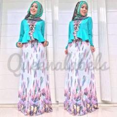 baju pesta muslimah Pusat-Gamis-Terbaru-New-Velash-by-Queena-Tosca