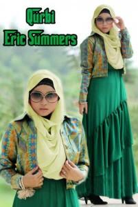 busana grosir import Pusat-Gamis-Terbaru-Qurbi-By-Eric-Summer-Green