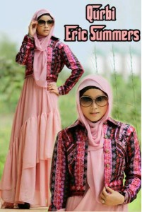 busana fashion Pusat-Gamis-Terbaru-Qurbi-By-Eric-Summer-Peach