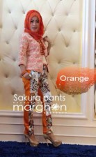 busana gamis wanita Pusat-Gamis-Terbaru-Sakura-Pants-by-Marghon-Orange
