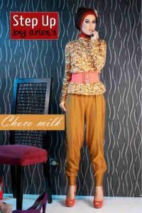 gamis muslimah modis Pusat-Gamis-Terbaru-Step-Up-Atiqa-Choco-Milk