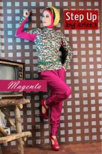 gamis wanita dewasa Pusat-Gamis-Terbaru-Step-Up-Atiqa-Magenta
