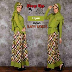 baju muslimah terbaru  Pusat-Gamis-Terbaru-Step-Up-Jannatu-(0403)-Hijau