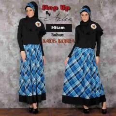baju muslim pesta wanita Pusat-Gamis-Terbaru-Step-Up-Jannatu-(0403)-Hitam