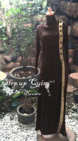 baju muslimah cantik online  Pusat-Gamis-Terbaru-Step-Up-Quin-Brown