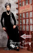 baju muslim elegan online  Pusat-Gamis-Terbaru-Step-Up-Quin-Hitam