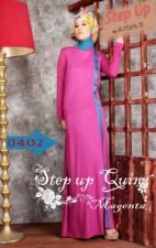 baju muslim hijab style Pusat-Gamis-Terbaru-Step-Up-Quin-Magenta