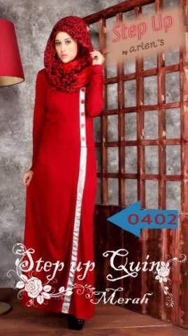 baju muslimah fashion  Pusat-Gamis-Terbaru-Step-Up-Quin-Merah