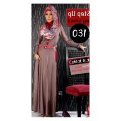 baju muslim branded terbaru Pusat-Gamis-Terbaru-Step-Up-Scoot-Coklat-Tua