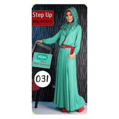 baju muslimah modis Pusat-Gamis-Terbaru-Step-Up-Scoot-Hijau