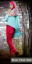 butik baju muslim elegant  Pusat-Gamis-Terbaru-Step-Up-Shafa-Hijau-Telur -Asin