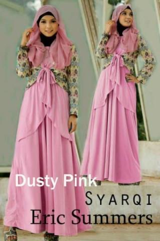 gaun muslim anggun Pusat-Gamis-Terbaru-Syarqi-Dress-By-Eric-Summer-Dusty-Pink