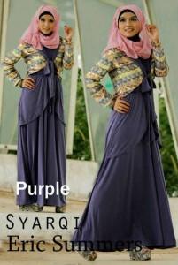 busana muslim jilbab Pusat-Gamis-Terbaru-Syarqi-Dress-By-Eric-Summer-Purple