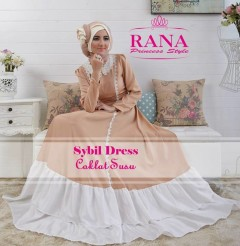 model gaun muslim, Pusat-Gamis-Terbaru-Sybil-Dress-by-Rana-Princes-style-Coklat-Susu