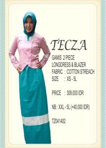 model busana muslim wanita 2014 Pusat-Gamis-Terbaru-Tecza-TZ041402