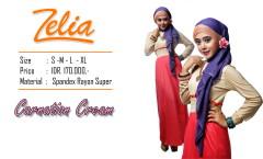 baju pesta muslimah, Pusat-Gamis-Terbaru-Zelia-Carnation-Cream