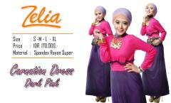 model gaun pesta, Pusat-Gamis-Terbaru-Zelia-Carnation-Dark-pink