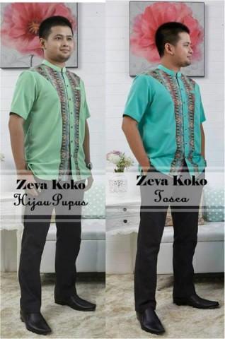 baju muslim modern Pusat-Gamis-Terbaru-Zeva-Koko-by-Airia-Hijau-Pupus-dan-Toscsa