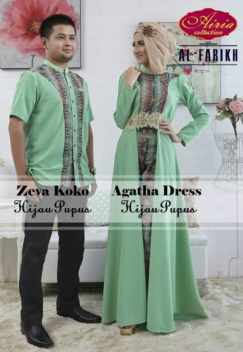 agatha hijau pupus baju muslim gamis modern