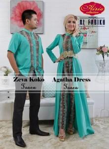 sarimbit couple 2014 Pusat-Gamis-Terbaru-Zeva-Koko-dan-Aghata-by-Airia-Tosca