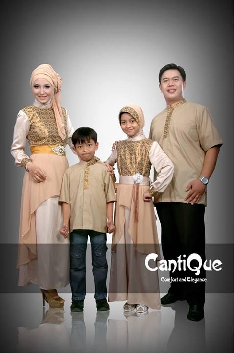 Cantique 1318 Khaki Baju Muslim Gamis Modern