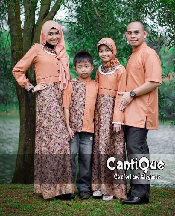 Cantique Orange Baju Muslim Gamis Modern