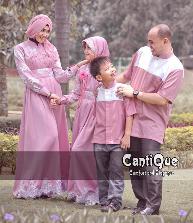 Cantique 1405 Pink Baju Muslim Gamis Modern
