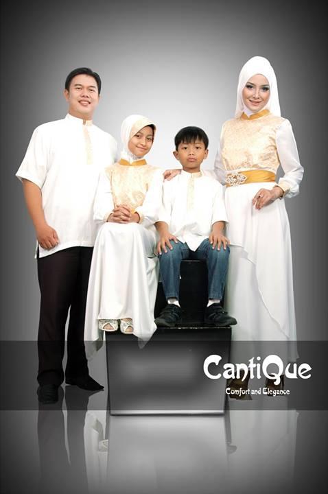 Cantique 1318 Putih G Baju Muslim Gamis Modern