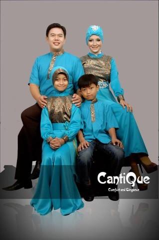 baju muslim dress modern Pusat-Gamis-terbaru-Cantique-biru-Tosca