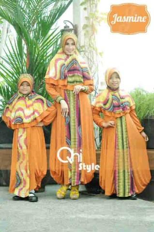 baju muslim gaya baru Pusat-Gamis-terbaru-Jasmine-by-Qhi-style-Orange