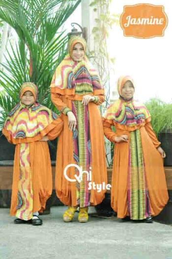 Jasmine By Qhi Style Orange Baju Muslim Gamis Modern