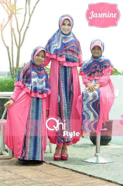 Jasmine By Qhi Style Pink Baju Muslim Gamis Modern