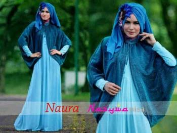 baju muslim modern 2014 Pusat-Gamis-terbaru-naura-by-Nasywannisa-Baby-Blue