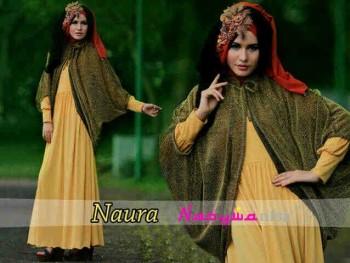 model baju muslim wanita terbaru 2014 Pusat-Gamis-terbaru-naura-by-Nasywannisa-Kuning