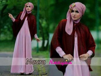 baju muslim modern 2014 Pusat-Gamis-terbaru-naura-by-Nasywannisa-baby-Pink