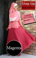 baju muslimah online Gamis-Terbaru-Step-Up-Talita-Magenta